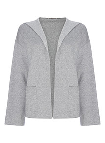 Hooded Cropped Cardigan