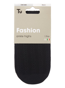 Cable Ankle High Socks