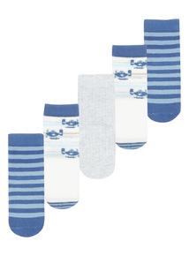 Plane Socks 5 Pack (1 - 24 months)