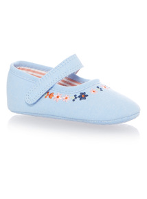 Girls Blue Chambray Shoes (0 - 18 months)