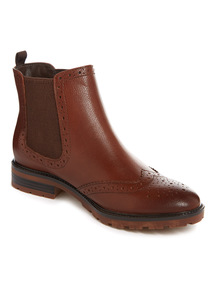 Tan Sole Comfort Leather Chelsea Boot