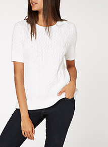 Cable Knit Tee