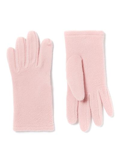 Light Pink Fleece Gloves