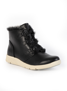 Sole Comfort Black Ankle Boots