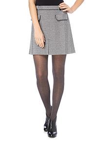 Grey A-Line Textured Skirt