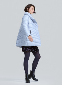 Grey Knitted Marl Coat