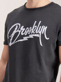 Charcoal Grey Brooklyn Crew Neck T-Shirt