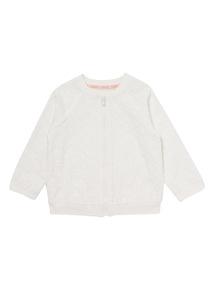 Cream Broderie Bomber Jacket (0-24 months)