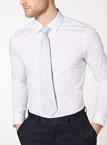 Teal Stripe Tie
