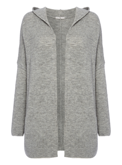 d6c83d1d5128 Womens Grey Felted Hooded Cardigan | Tu clothing