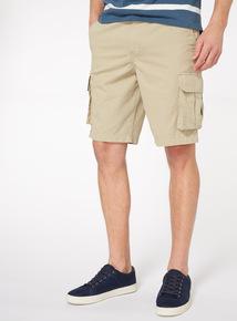 Stone Twill Cargo Shorts