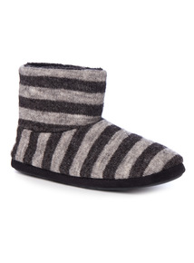 Stripe Slipper Boot