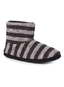 Stripe Slipper Boot