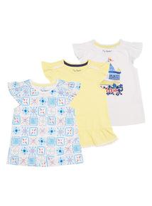 Girls Ocean Tees 3 Pack (9 months - 6 years)