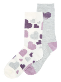 2 Pack Thermal Heart Socks