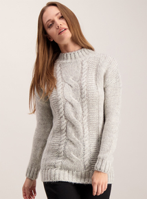 Light Grey Cable Jumper
