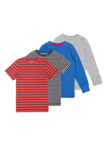 Mixed Sleeve Tees 4 Pack (3-12 years)