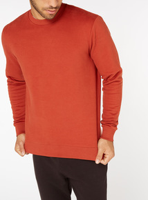 Burnt Orange Crew Neck Sweatshirt