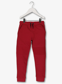 Red 'Biker Style' Joggers (3 - 14 years)