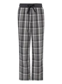 Grey Check Drawstring Lounge Trousers