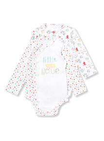 2 Pack White Farmyard Bodysuits (Newborn-12 months)
