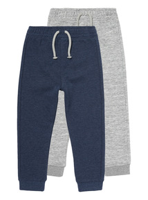 Multicoloured Elasticated Joggers 2 Pack (9 months-6 years)