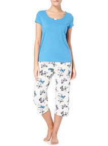 Blue butterfly Pyjama Set