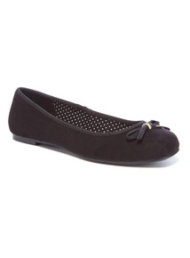 Black Wide Fit Ballerina Shoes