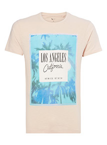 Pink Los Angeles T-shirt