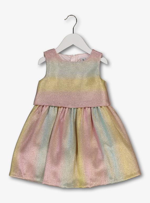2d299f52a181 Baby Multicoloured Rainbow Sparkle Occasion Dress (9 months- 6 years ...