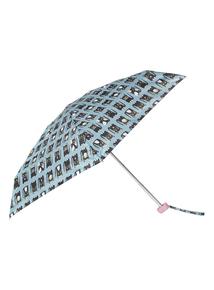 Blue Cat Print Mini Umbrella