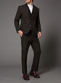 Brown Wool Suit Jacket