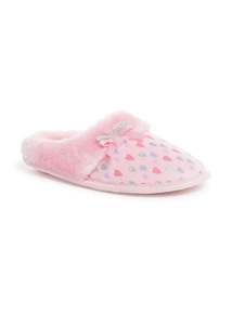 Pink Heart Slippers