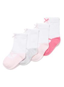 4 Pack Pink Ballet Socks (1-24 months)