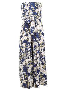 IZABEL Multi Navy Floral Print Wide Leg Jumpsuit