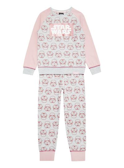 Grey Disney Star Wars Sweat Pyjama Set (3-12 years)