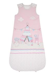 Girls Pink Wigwam Sleeping Bag (0-24 months)