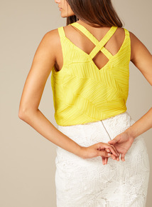 Premium Textured Leaf Pattern Camisole Top