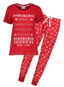 Online Exclusive Home Alone Red Pyjamas