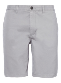 Grey Basic Chino Shorts