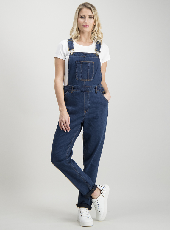 free shipping newest style colours and striking SKU: CORE FASHION DARK DENIM DUNGAREE:Dark Denim