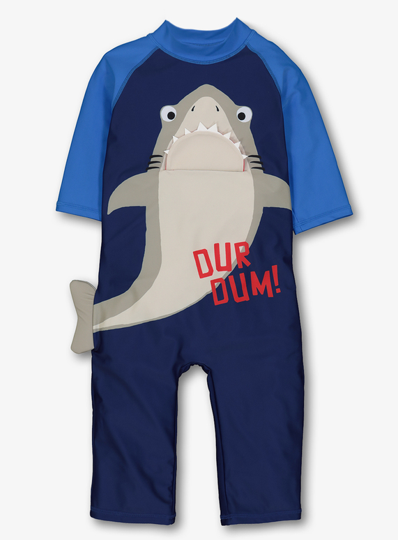 635f9a8030 Kids Navy Shark Swimsuit (9 months - 6 years) | Tu clothing