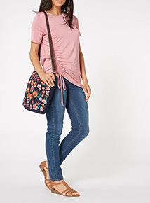 Embroidered Floral Bag