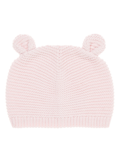 Pink Knitted Bear Hat (0-24 months)
