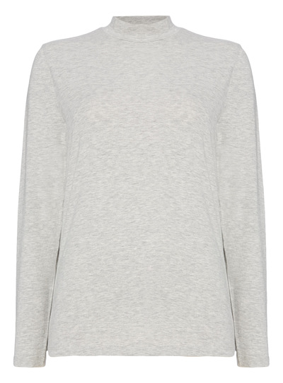 Grey Funnel Neck Top