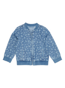Girls Denim Chambray Bomber Jacket (0 - 24 months)