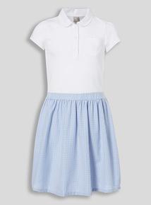 Blue School Gingham Dress (3 - 12 years)