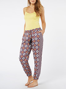 Patterned Drapey Trousers