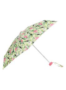 Green Toucan And Flamingo Umbrella