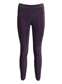 Purple Jersey Cord Leggings